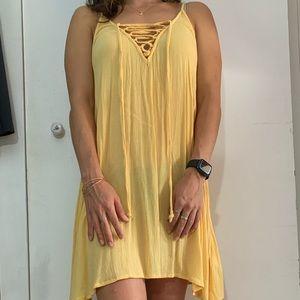Roxy yellow beach cover-up dress